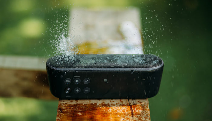 Waterproof bluetooth speakers can get wet without being damaged