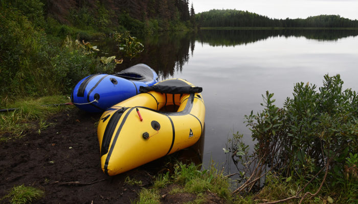 Inflatable kayaks that were inflated with a high pressure hand pump
