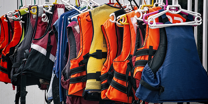 There are differet levels of life jackets according to the USCG.
