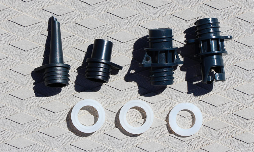 The two on the left are air nozzels. The one second to the right is the C7 valve, and the far right one is the H3 valve.